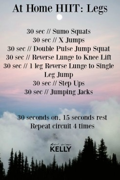 At Home HIIT: Legs