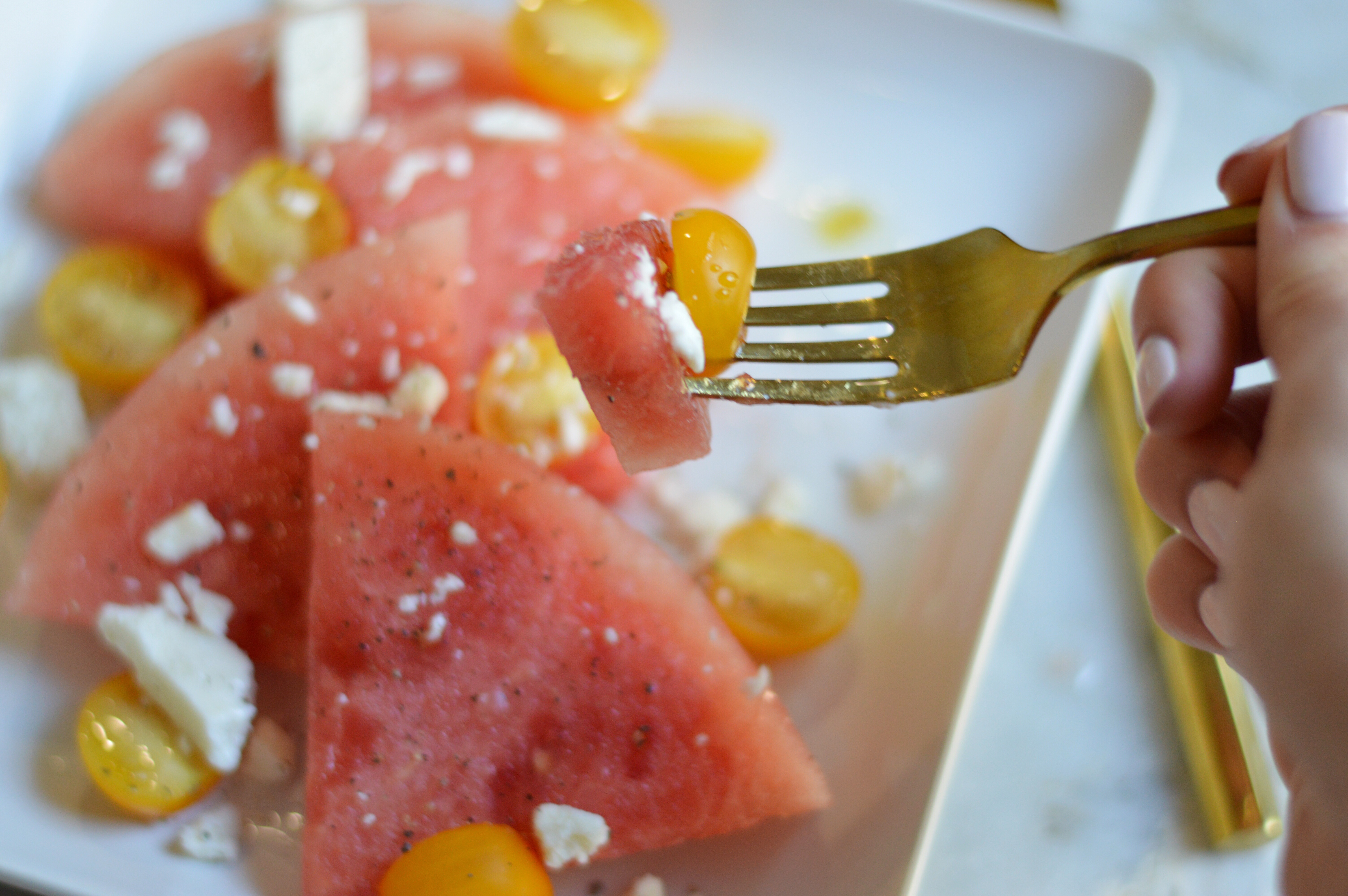 Quick and Easy Summer Snack: Watermelon & Feta Plate